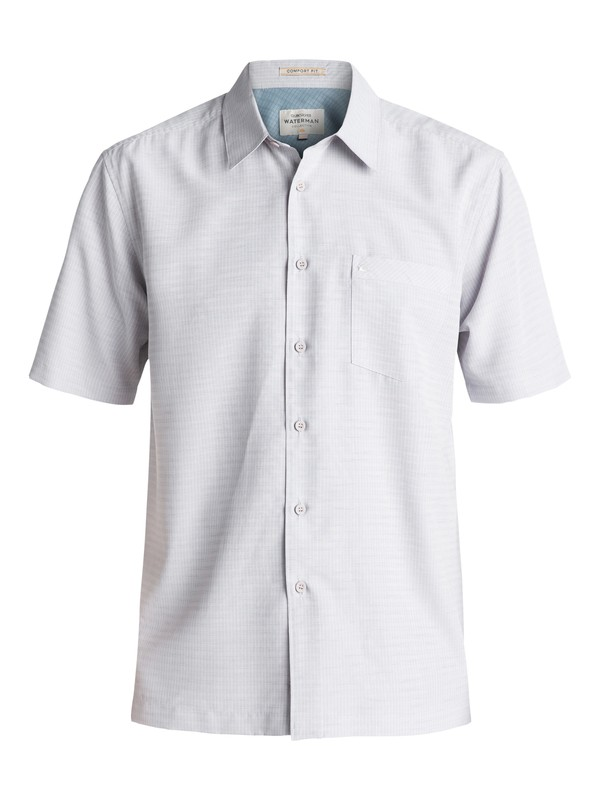 0 Waterman Centinela Short Sleeve Shirt Grey AQMWT03106 Quiksilver