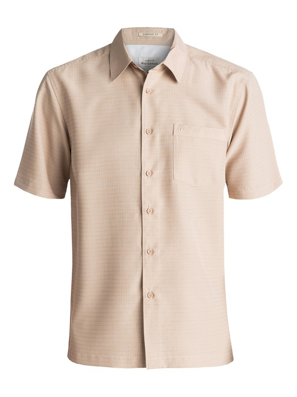 0 Waterman Centinela Short Sleeve Shirt White AQMWT03106 Quiksilver