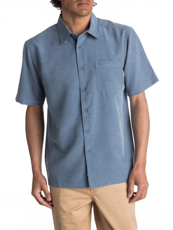 0 Waterman Centinela Short Sleeve Shirt Blue AQMWT03106 Quiksilver