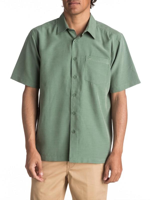 0 Waterman Centinela Short Sleeve Shirt Green AQMWT03106 Quiksilver