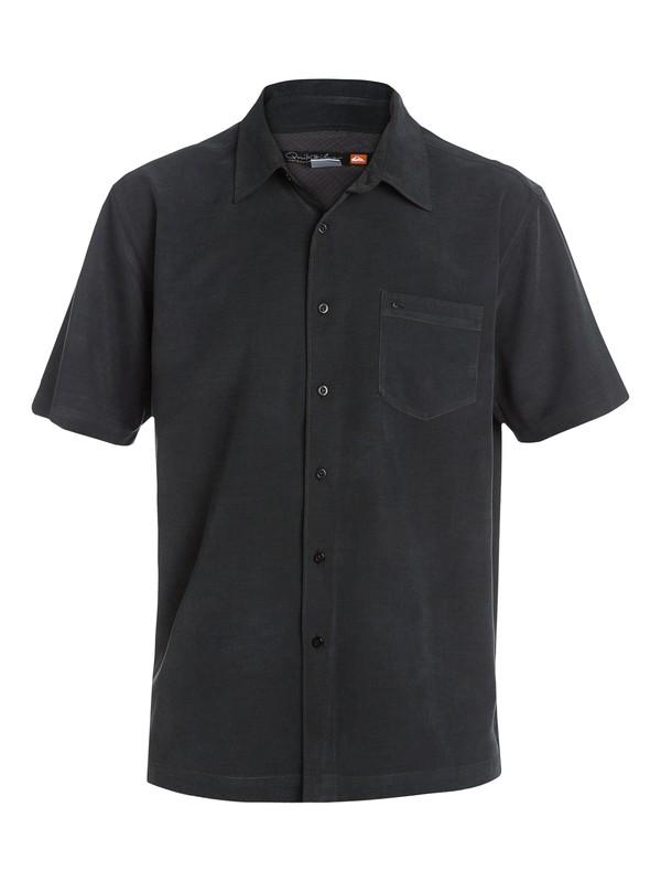 0 Waterman Clear Days Short Sleeve Shirt Black AQMWT03107 Quiksilver