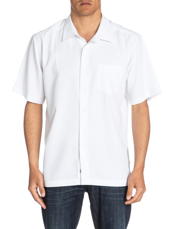 0 Waterman Clear Days Short Sleeve Shirt White AQMWT03107 Quiksilver