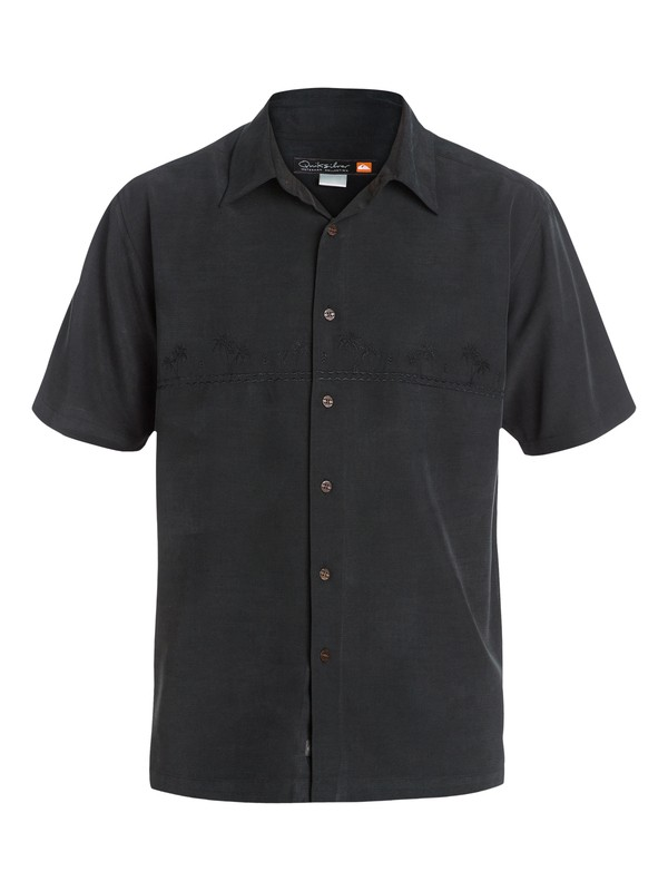 0 Waterman Tahiti Palms 4 Short Sleeve Shirt Black AQMWT03108 Quiksilver
