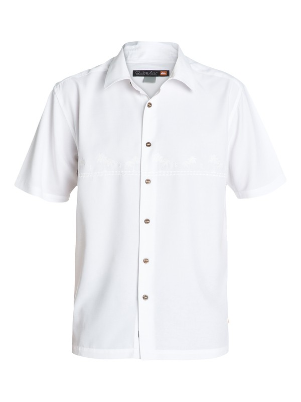 0 Waterman Tahiti Palms 4 Short Sleeve Shirt White AQMWT03108 Quiksilver