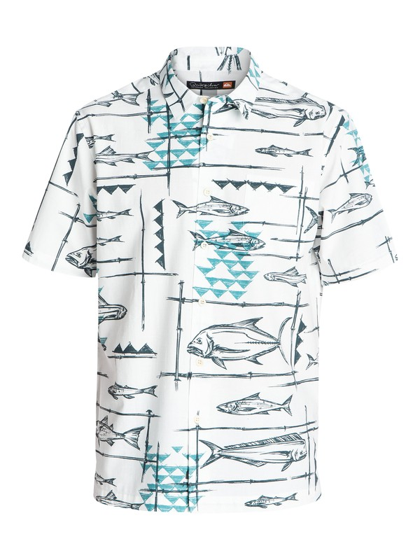 0 Men's Reelin Short Sleeve Shirt  AQMWT03130 Quiksilver