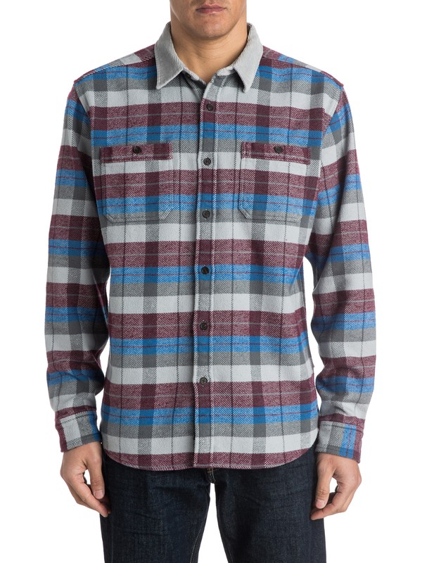 0 Men's Frankfort Long Sleeve Shirt  AQMWT03143 Quiksilver