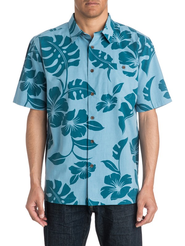 0 Mens Beach House Short Sleeve Shirt  AQMWT03175 Quiksilver