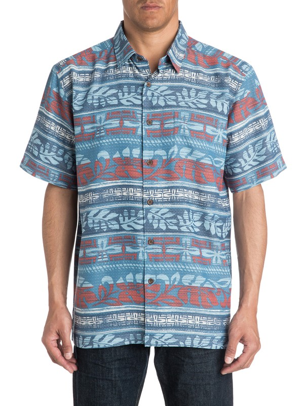 0 Mens Pina Short Sleeve Shirt  AQMWT03177 Quiksilver