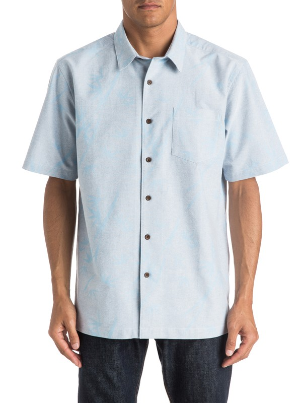 0 Mens Secret Island Short Sleeve Shirt  AQMWT03183 Quiksilver