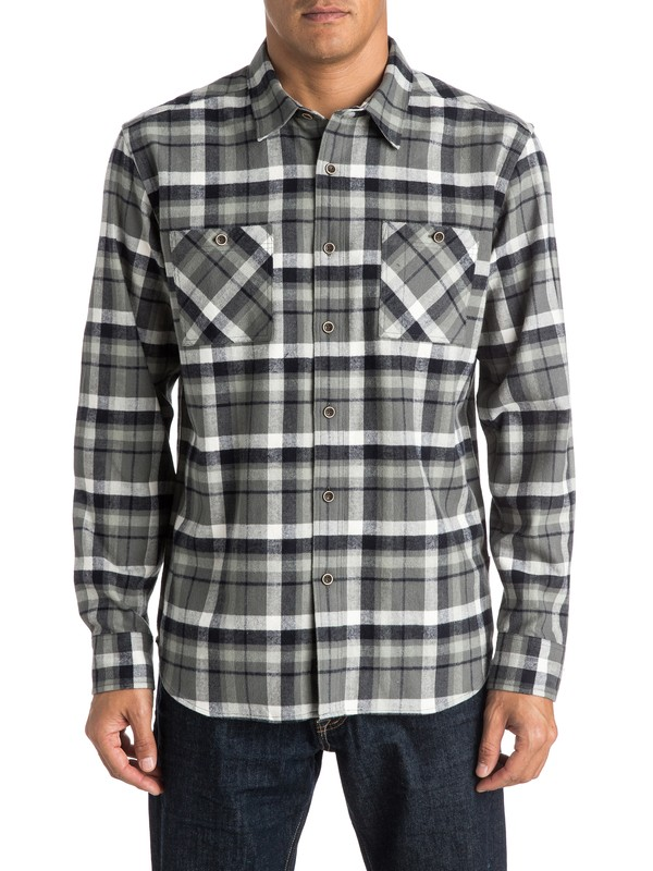 0 Waterman Red Eye Flannel Long Sleeve Shirt  AQMWT03248 Quiksilver