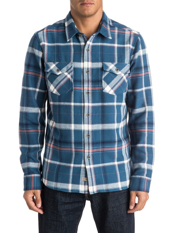 0 Waterman Yakutat Flannel Long Sleeve Shirt  AQMWT03250 Quiksilver
