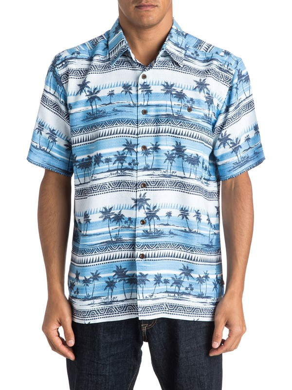 0 Waterman Power Lounge Short Sleeve Shirt  AQMWT03252 Quiksilver