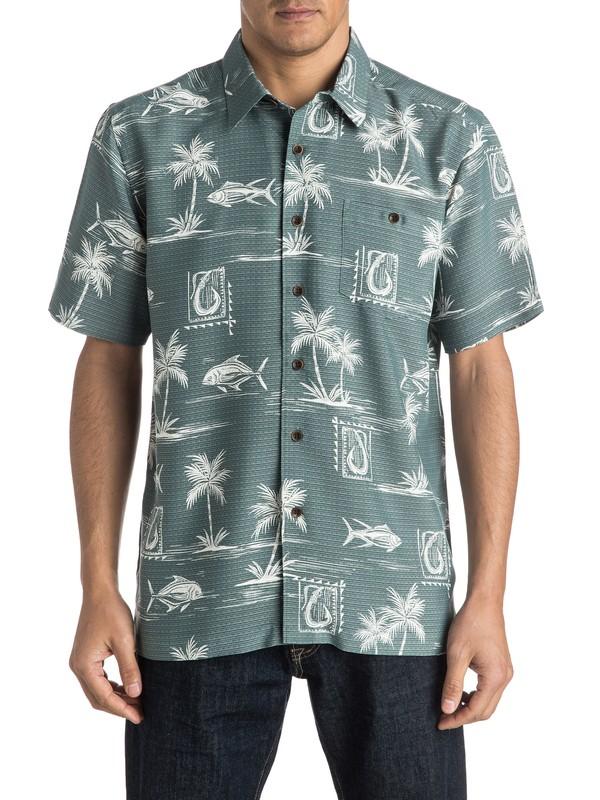 0 Waterman Makau Short Sleeve Shirt  AQMWT03292 Quiksilver