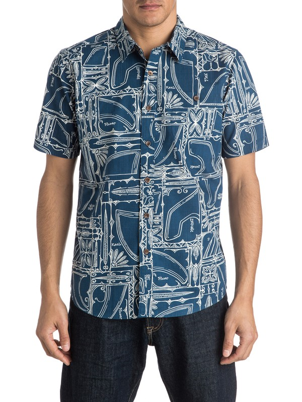 0 Waterman Finagain Short Sleeve Shirt  AQMWT03294 Quiksilver