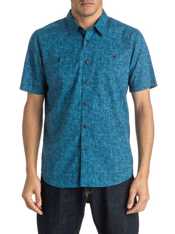 0 Waterman Chlorophyll Short Sleeve Shirt  AQMWT03295 Quiksilver