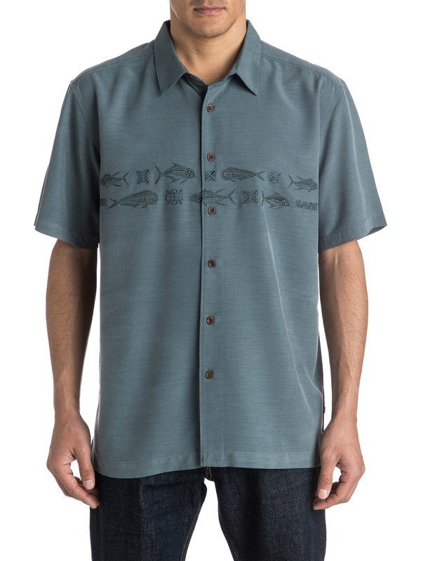 0 Waterman Migration Short Sleeve Shirt  AQMWT03298 Quiksilver
