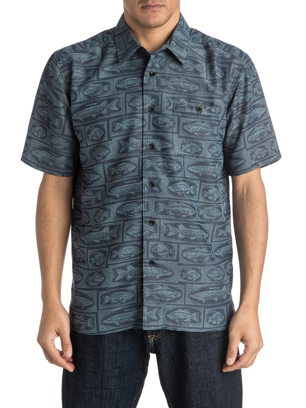 0 Waterman Bump The Stump Short Sleeve Shirt  AQMWT03305 Quiksilver