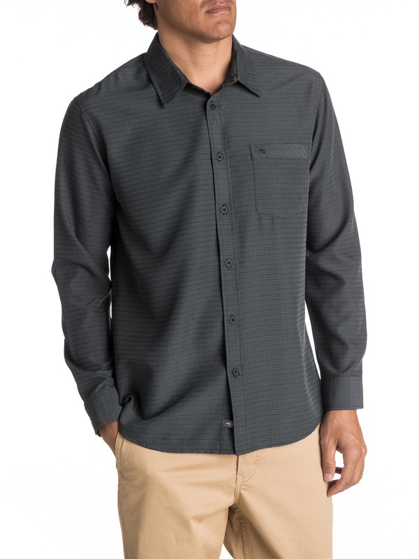 0 Waterman Centinela - Long Sleeve Shirt Black AQMWT03307 Quiksilver