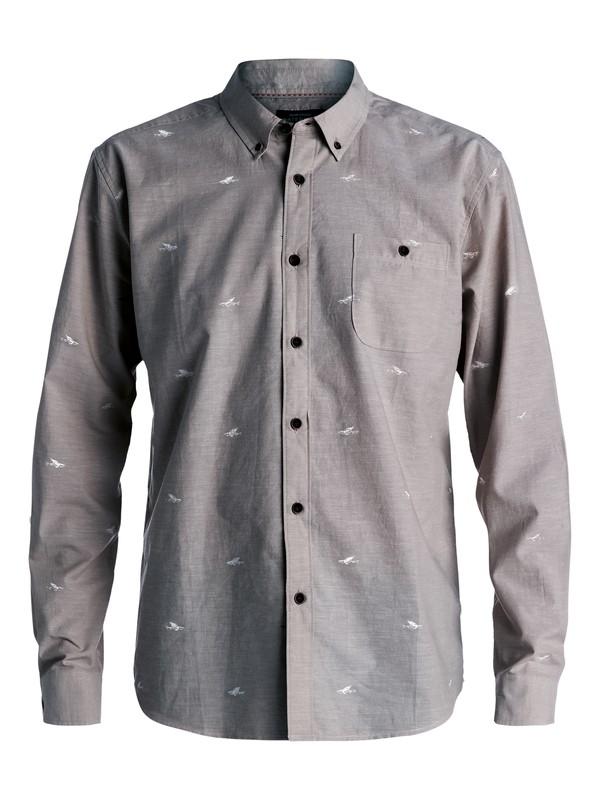 0 Waterman Post Haste - Camisa De Manga Larga Gris AQMWT03309 Quiksilver