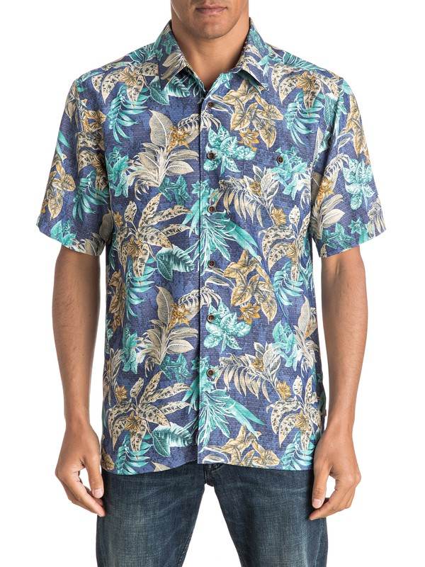 0 Waterman Daily Routines Short Sleeve Shirt  AQMWT03319 Quiksilver