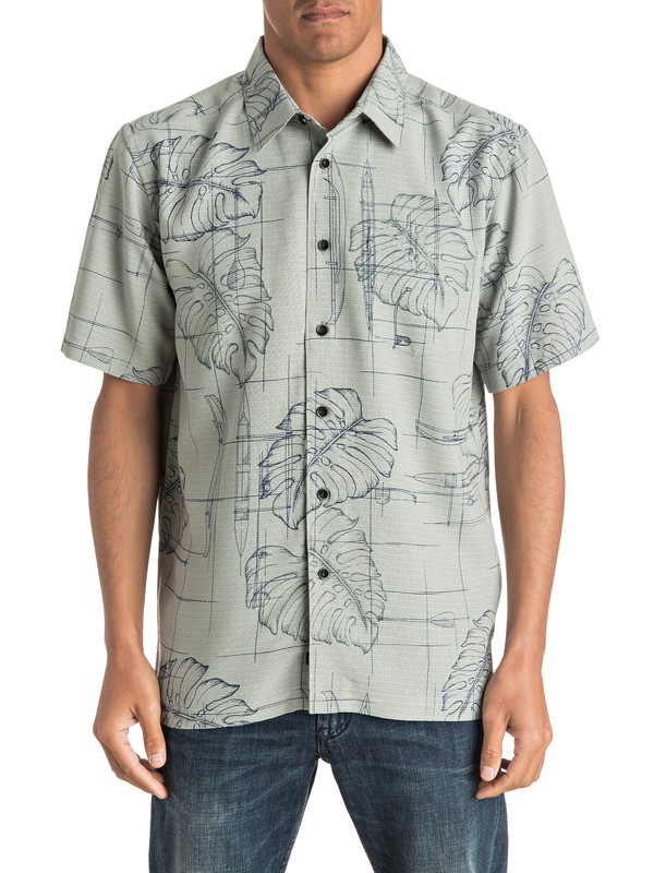 0 Waterman Big Kine Short Sleeve Shirt  AQMWT03320 Quiksilver