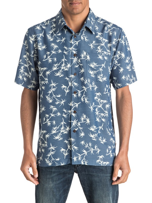 0 Waterman Skinny Palms - Chemise à manches courtes  AQMWT03321 Quiksilver