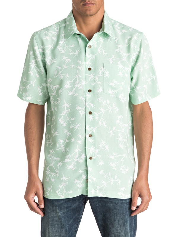 0 Waterman Skinny Palms Short Sleeve Shirt  AQMWT03321 Quiksilver