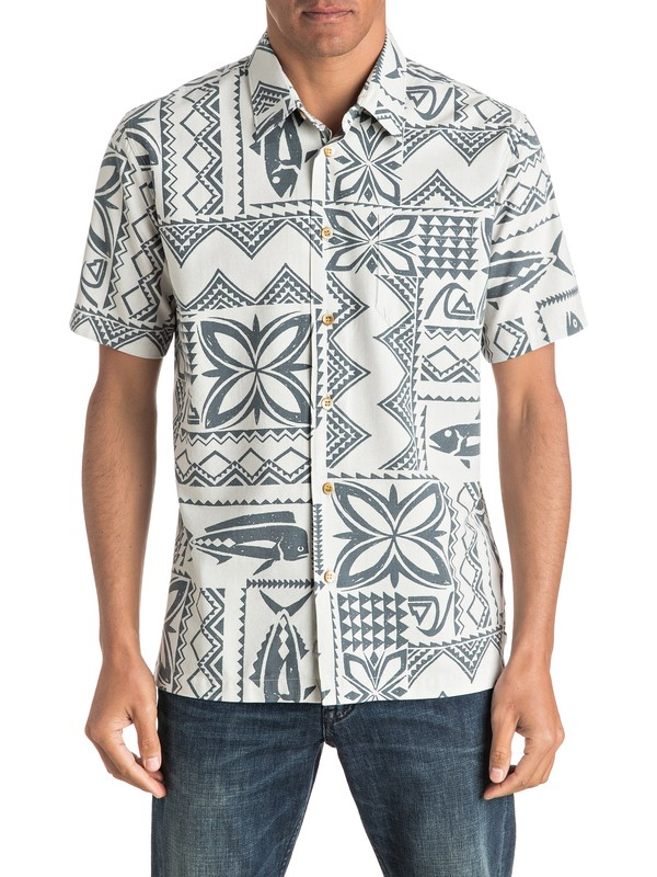 0 Waterman Fish Guru Short Sleeve Shirt  AQMWT03322 Quiksilver