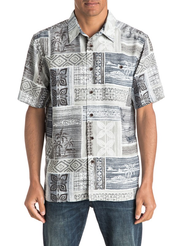 0 Waterman Tropic Beats Short Sleeve Shirt  AQMWT03323 Quiksilver