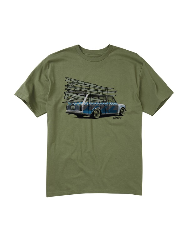 0 Men's Go Time T-Shirt  AQMZT00053 Quiksilver
