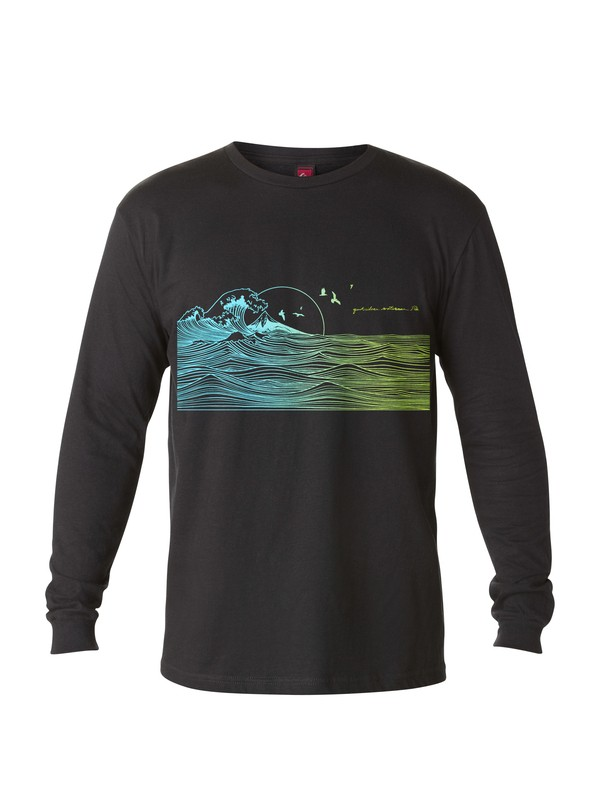 0 Men's Indicators Long Sleeve T-Shirt  AQMZT03014 Quiksilver
