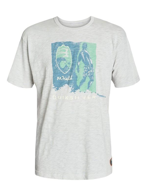 0 Men's Woodblock T-Shirt Grey AQMZT03033 Quiksilver