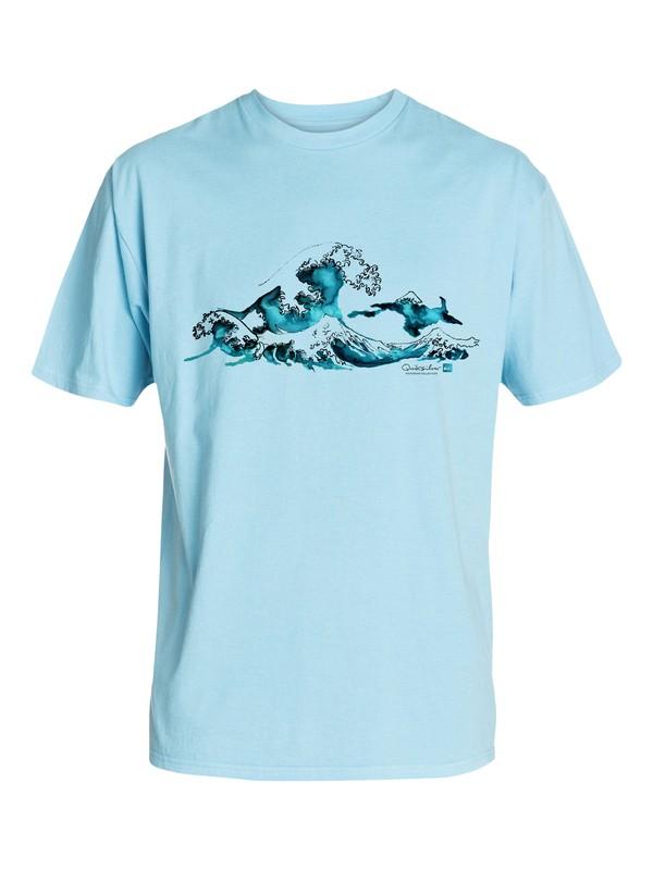 0 Men's Rough Seas T-Shirt  AQMZT03076 Quiksilver
