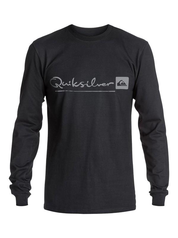 0 Men's Nomad Script Long Sleeve T-Shirt  AQMZT03130 Quiksilver