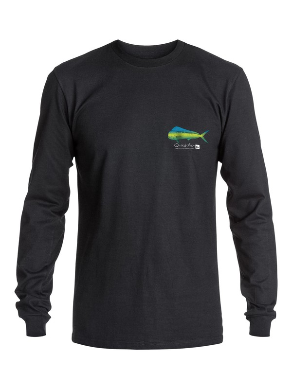 0 Men's Rainbow Scale Long Sleeve T-Shirt  AQMZT03131 Quiksilver