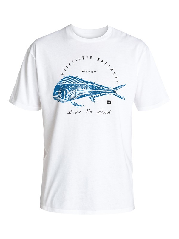 0 Waterman Live To Fish Tee  AQMZT03212 Quiksilver