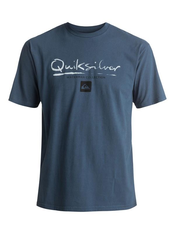 0 Waterman Gut Check Tee Blue AQMZT03237 Quiksilver