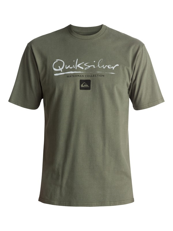 0 Waterman Gut Check Tee Green AQMZT03237 Quiksilver