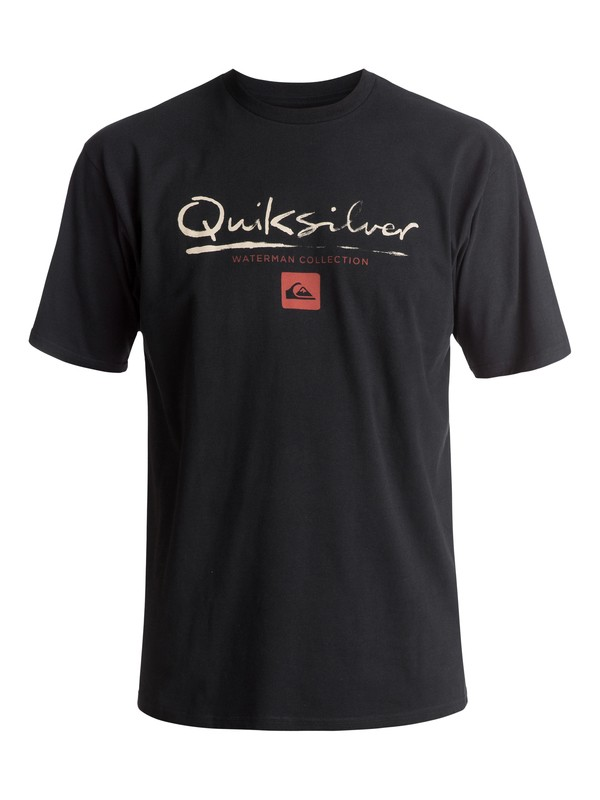 0 Waterman Gut Check Tee Black AQMZT03237 Quiksilver