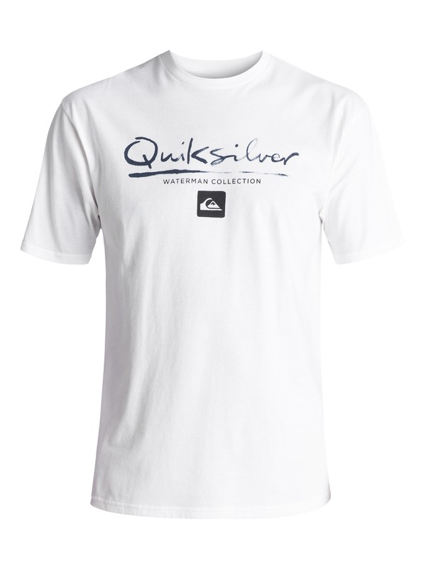 0 Waterman Gut Check Tee White AQMZT03237 Quiksilver