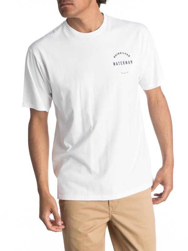 0 Waterman Highthon Tee White AQMZT03238 Quiksilver