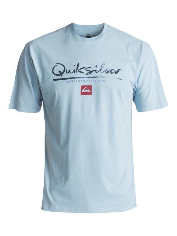 0 Men's Wordmark Tee Blue AQMZT03257 Quiksilver