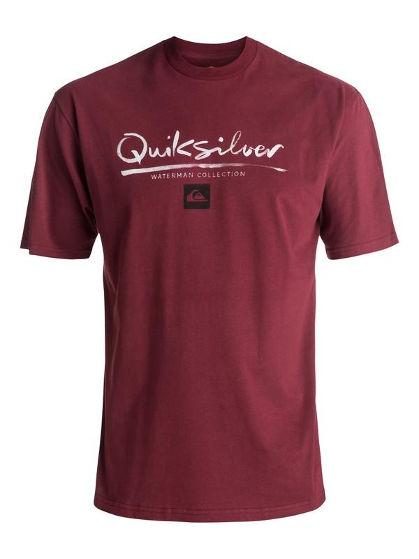 0 Men's Wordmark Tee Red AQMZT03257 Quiksilver