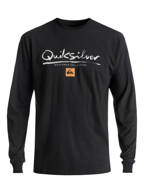 0 Men's Wordmark Long Sleeve Tee Black AQMZT03269 Quiksilver