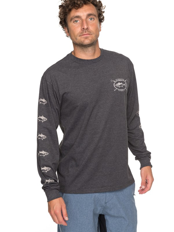 0 Waterman Thunnus Long Sleeve Tee Black AQMZT03281 Quiksilver