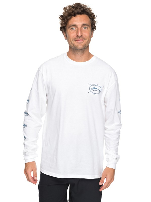 0 Waterman Thunnus Long Sleeve Tee White AQMZT03281 Quiksilver