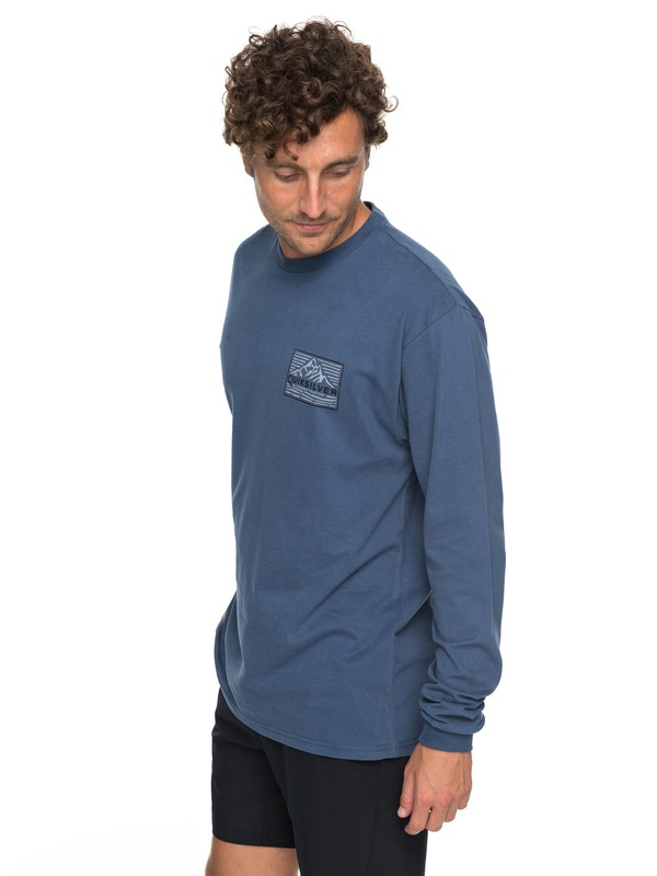 0 Waterman's Delight Long Sleeve Tee Blue AQMZT03282 Quiksilver