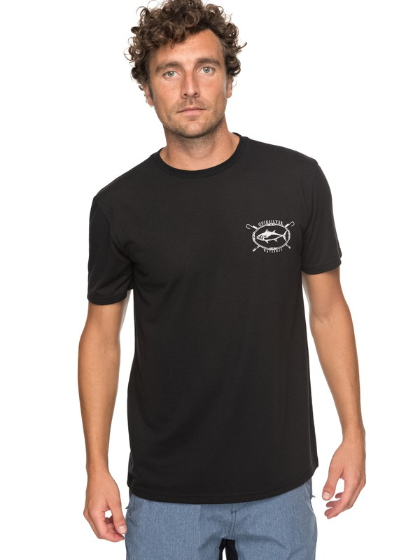 0 Waterman Thunnus Technical Tee Black AQMZT03283 Quiksilver