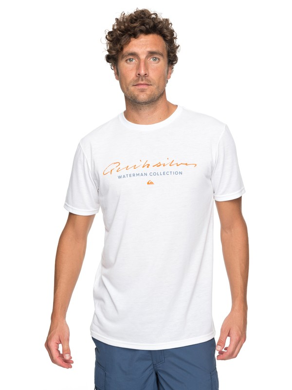 0 Waterman Simple Technical Tee White AQMZT03285 Quiksilver