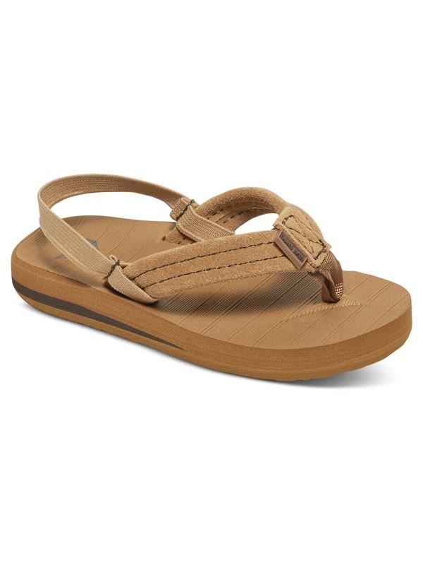 0 Boy's 2-7 Carver Suede Sandals Beige AQTL100003 Quiksilver